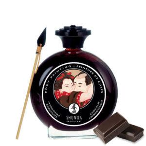 body painting chocolate shunga egolala eroteca valencia 1