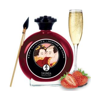 body painting fresas champpan wine shunga egolala eroteca valencia 1