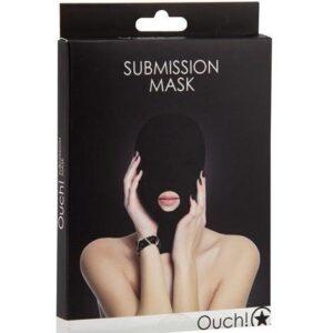Mascara SUBMISSION 1 Orificio Negra Ouch Egolala Eroteca Valencia 1