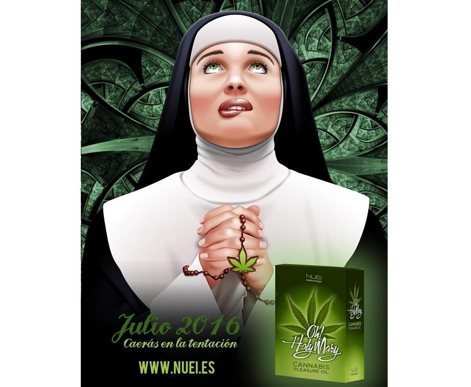 oh holy mary aceite intimo estimulante lubricante cannabis egolala eroteca valencia