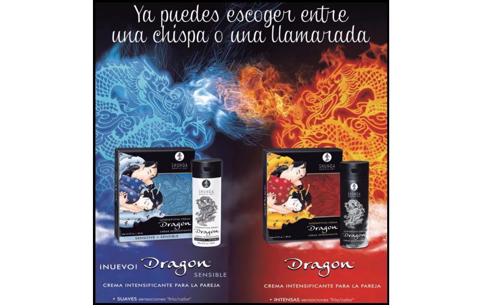 DRAGON Virility y DRAGON Sensitive, Cremas Potenciadoras e Intensificadoras del Orgasmo.