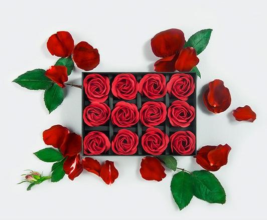PROMOCIÓN de SAN VALENTÍN LELO, Regalo 12x Rosas Perfumadas para Baño o SPA.