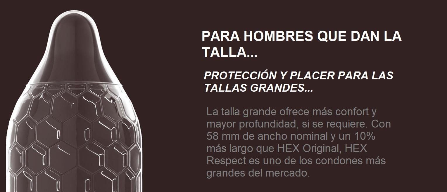 """HEX Respect XL, Preservativos Naturales XL de la Marca LELO, """"Para los Hombres que dan la Talla""""."""