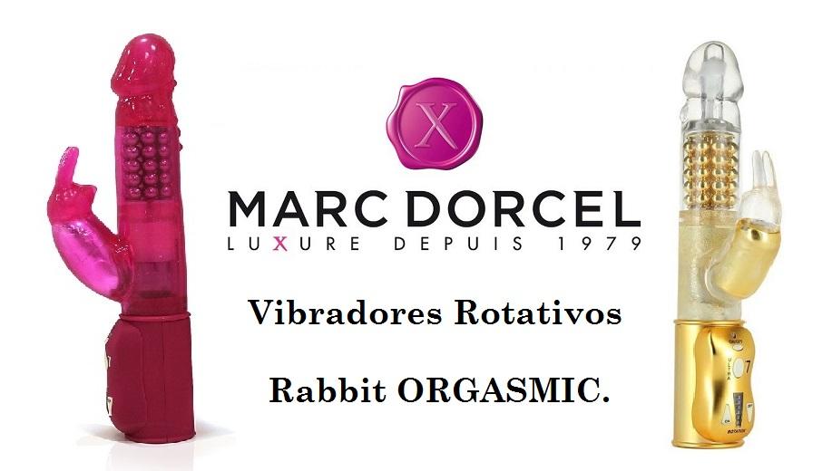Vibradores Rotativos Rabbit ORGASMIC con Conejito Rampante, muy Potentes de la Marca MARC DORCEL.
