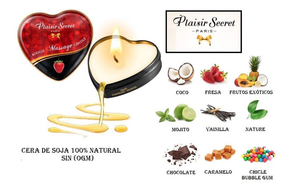 Velas de Masaje Perfumadas Plaisir Secret egolala Eroteca Valencia