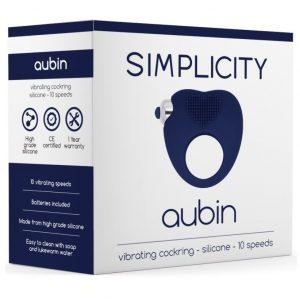 anillo vibrador aubin azul silicona negro 10 funciones simplicity egolala eroteca valencia 2