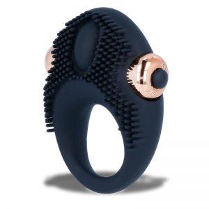womanvibe thor anillo vibrador silicona negro bala extraible 1