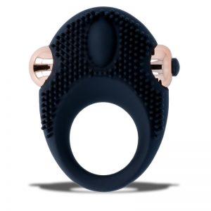 womanvibe thor anillo vibrador silicona negro bala extraible 3