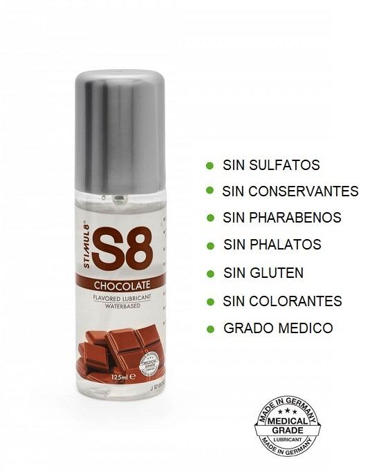S8 Lubricante Sabor CHOCOLATE 125ml de la Novedosa Marca STIMUL8 Egolala Eroteca Valencia-2