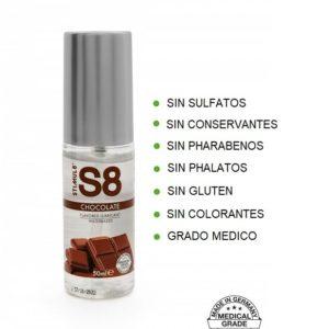 S8 Lubricante Sabor CHOCOLATE 50ml de la Novedosa Marca STIMUL8 Egolala Eroteca Valencia-2
