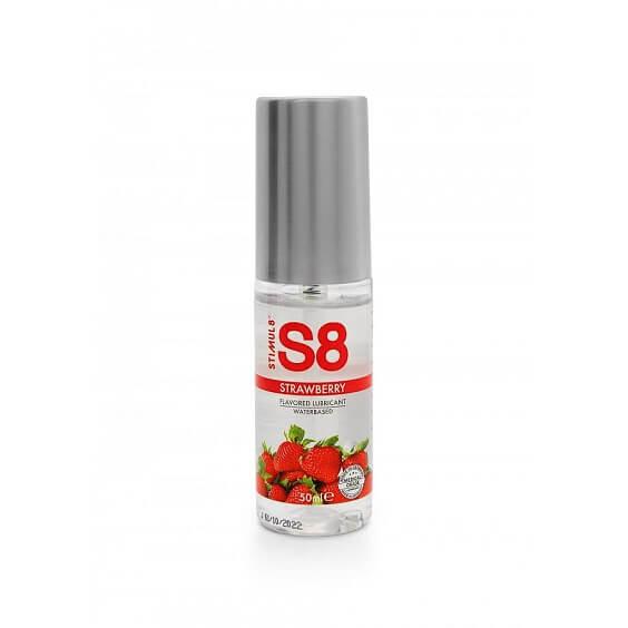 S8 Lubricante Sabor FRESA 50ml de la Novedosa Marca STIMUL8 Egolala Eroteca Valencia-1
