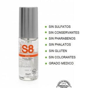 S8 Lubricante ANAL 50ml de la Novedosa Marca STIMUL8 Egolala Eroteca Valencia-2