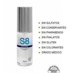 S8 Lubricante COOLING 50ml de la Novedosa Marca STIMUL8 Egolala Eroteca Valencia-2