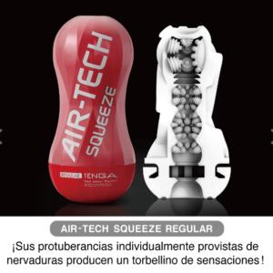 AIR TECH Squeeze REGULAR Masturbador Rojo de Efecto Felación Profunda de la Marca TENGA Egolala Eroteca Valencia-2