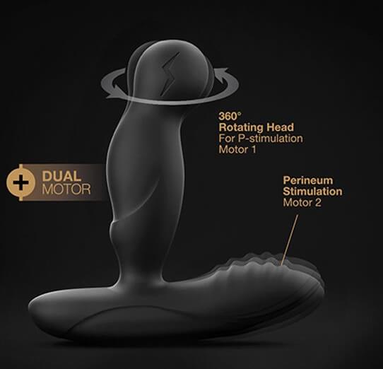 P-SWING Prostático Vibrador Rotativo Masculino por Control Remoto de MARC DORCEL Egolala Eroteca Valencia-3