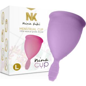 NINA CUP L Lila Copa Menstrual de la Marca NINA KIKI Egolala Eroteca Valencia-1