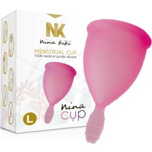 NINA CUP L Rosa Copa Menstrual de la Marca NINA KIKI Egolala Eroteca Valencia-1