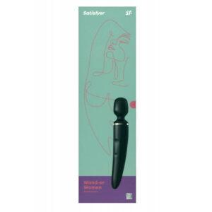 Satisfyer WAND-Er WOMEN Negro Masajeador XXL Recargable USB Magnético Marca SATISFYER Egolala Eroteca Valencia-2