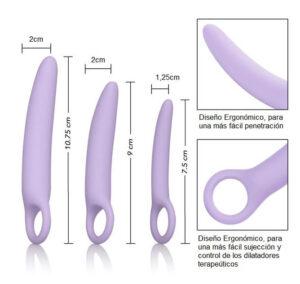 ALENA Dilatadores Vaginales Kit 3 PCS Silicona Médica 100% Marca CALEXOTICS Egolala Eroteca Valencia-3